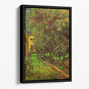 The Garden of Saint-Paul Hospital by Van Gogh Floating Framed Canvas