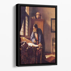 The Geographer by Vermeer Floating Framed Canvas