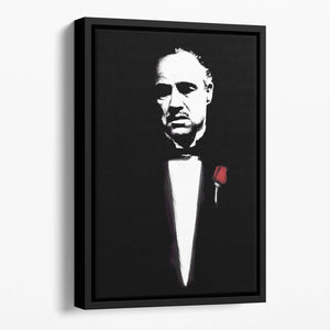The Godfather Don Corleone Floating Framed Canvas