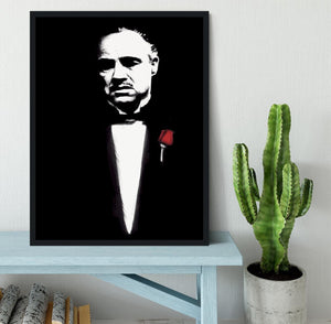 The Godfather Don Corleone Framed Print - Canvas Art Rocks - 2