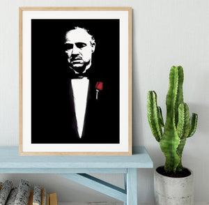 The Godfather Don Corleone Framed Print - Canvas Art Rocks - 3