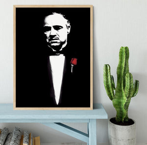 The Godfather Don Corleone Framed Print - Canvas Art Rocks - 4
