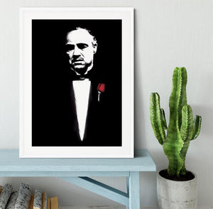 The Godfather Don Corleone Framed Print - Canvas Art Rocks - 5