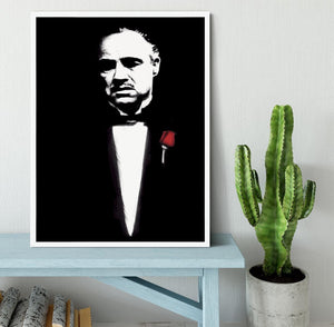 The Godfather Don Corleone Framed Print - Canvas Art Rocks -6