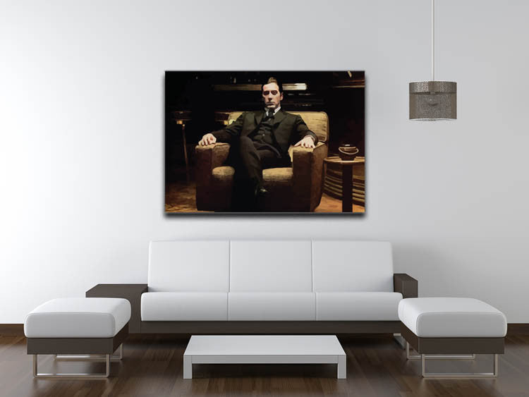 The Godfather Michael Corleone in Armchair Canvas Print & Poster ...