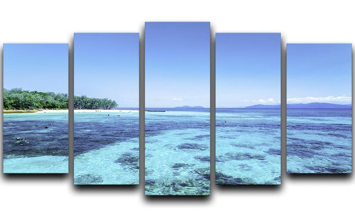 The Great Barrier Reef 5 Split Panel Canvas