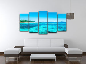 The Great Barrier Reef 5 Split Panel Canvas  - Canvas Art Rocks - 3
