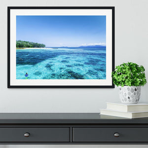 The Great Barrier Reef Framed Print - Canvas Art Rocks - 1