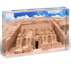 The Great Temple at Abu Simbel Acrylic Block - Canvas Art Rocks - 1