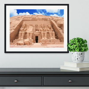 The Great Temple at Abu Simbel Framed Print - Canvas Art Rocks - 1