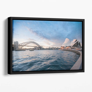 The Harbour Bridge Floating Framed Canvas