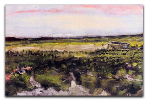 The Heath with a Wheelbarrow by Van Gogh Canvas Print & Poster  - Canvas Art Rocks - 1