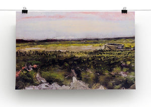 The Heath with a Wheelbarrow by Van Gogh Canvas Print & Poster - Canvas Art Rocks - 2