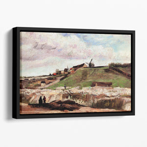 The Hill of Montmartre with Quarry by Van Gogh Floating Framed Canvas
