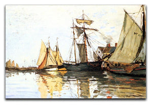 The Honfleur Port by Monet Canvas Print & Poster  - Canvas Art Rocks - 1