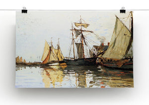 The Honfleur Port by Monet Canvas Print & Poster - Canvas Art Rocks - 2