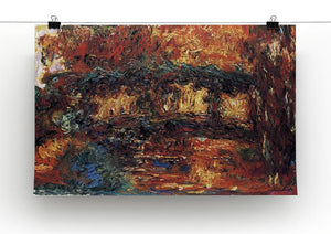 The Japanese Bridge 2 by Monet Canvas Print & Poster - Canvas Art Rocks - 2