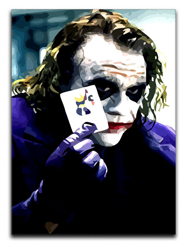 Heath Ledger The Joker Canvas Print or Poster