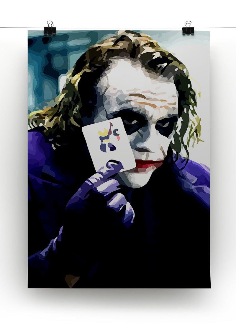 Heath Ledger The Joker Print - Canvas Art Rocks - 2