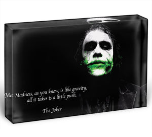 The Joker Madness Acrylic Block - Canvas Art Rocks - 1