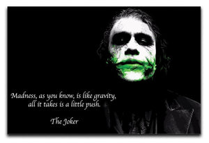 The Joker Madness Canvas Print or Poster  - Canvas Art Rocks - 1