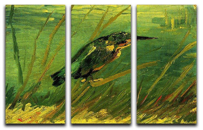 The Kingfisher by Van Gogh 3 Split Panel Canvas Print
