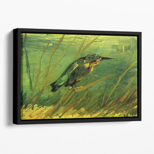 The Kingfisher by Van Gogh Floating Framed Canvas