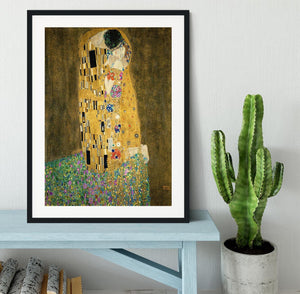 The Kiss by Klimt 2 Framed Print - Canvas Art Rocks - 1