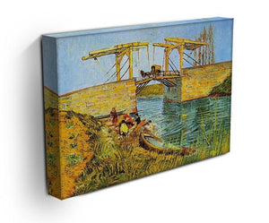 The Langlois Bridge at Arles by Van Gogh Canvas Print & Poster - Canvas Art Rocks - 3