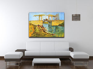 The Langlois Bridge at Arles by Van Gogh Canvas Print & Poster - Canvas Art Rocks - 4