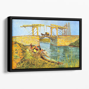 The Langlois Bridge at Arles by Van Gogh Floating Framed Canvas