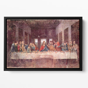 The Last Supper by Da Vinci Floating Framed Canvas
