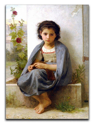 The Little Knitter By Bouguereau Canvas Print or Poster  - Canvas Art Rocks - 1