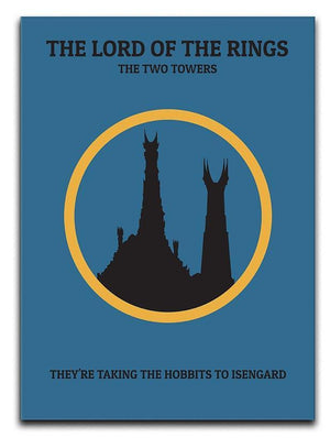 The Lord Of The Rings The Two Towers Minimal Movie Canvas Print or Poster  - Canvas Art Rocks - 1