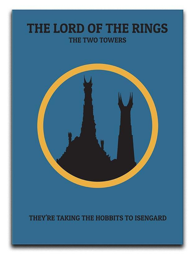 The Lord Of The Rings The Two Towers Minimal Movie Canvas Print or Poster