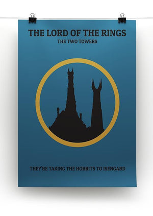 The Lord Of The Rings The Two Towers Minimal Movie Canvas Print or Poster - Canvas Art Rocks - 2