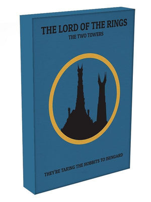The Lord Of The Rings The Two Towers Minimal Movie Canvas Print or Poster - Canvas Art Rocks - 3