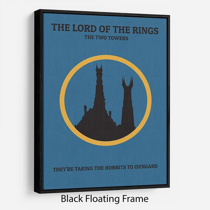 The Lord Of The Rings The Two Towers Minimal Movie Floating Frame Canvas
