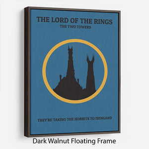 The Lord Of The Rings The Two Towers Minimal Movie Floating Frame Canvas - Canvas Art Rocks - 5