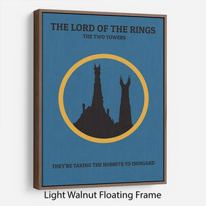 The Lord Of The Rings The Two Towers Minimal Movie Floating Frame Canvas - Canvas Art Rocks - 7