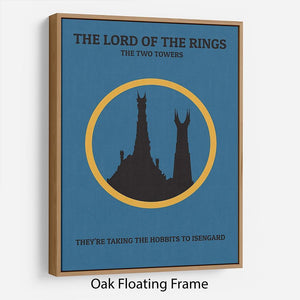The Lord Of The Rings The Two Towers Minimal Movie Floating Frame Canvas - Canvas Art Rocks - 9