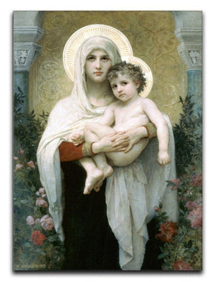 The Madonna of the Roses By Bouguereau Canvas Print or Poster  - Canvas Art Rocks - 1