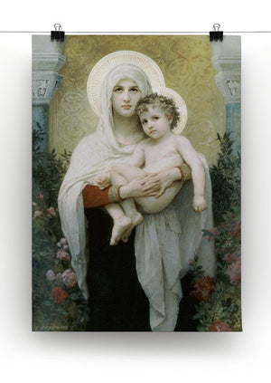 The Madonna of the Roses By Bouguereau Canvas Print or Poster - Canvas Art Rocks - 2