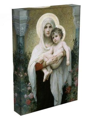 The Madonna of the Roses By Bouguereau Canvas Print or Poster - Canvas Art Rocks - 3