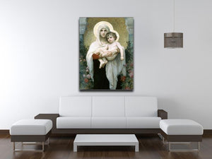 The Madonna of the Roses By Bouguereau Canvas Print or Poster - Canvas Art Rocks - 4