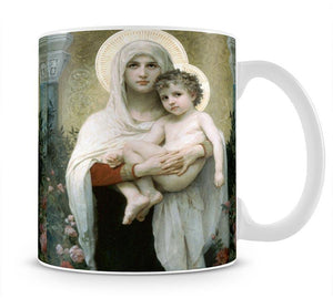 The Madonna of the Roses By Bouguereau Mug - Canvas Art Rocks - 1