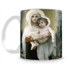 The Madonna of the Roses By Bouguereau Mug - Canvas Art Rocks - 2