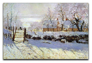 The Magpie by Monet Canvas Print & Poster  - Canvas Art Rocks - 1