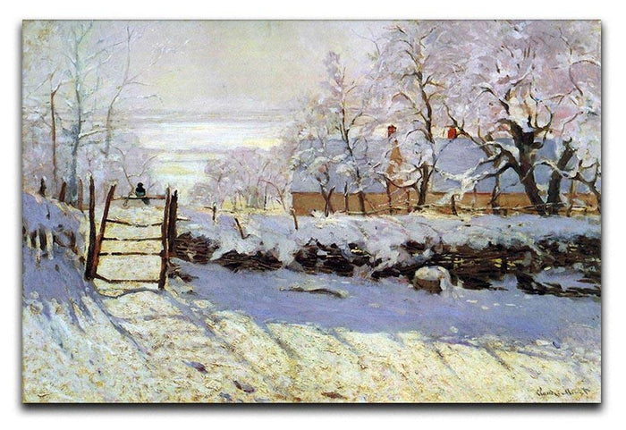 The Magpie by Monet Canvas Print or Poster