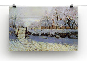 The Magpie by Monet Canvas Print & Poster - Canvas Art Rocks - 2